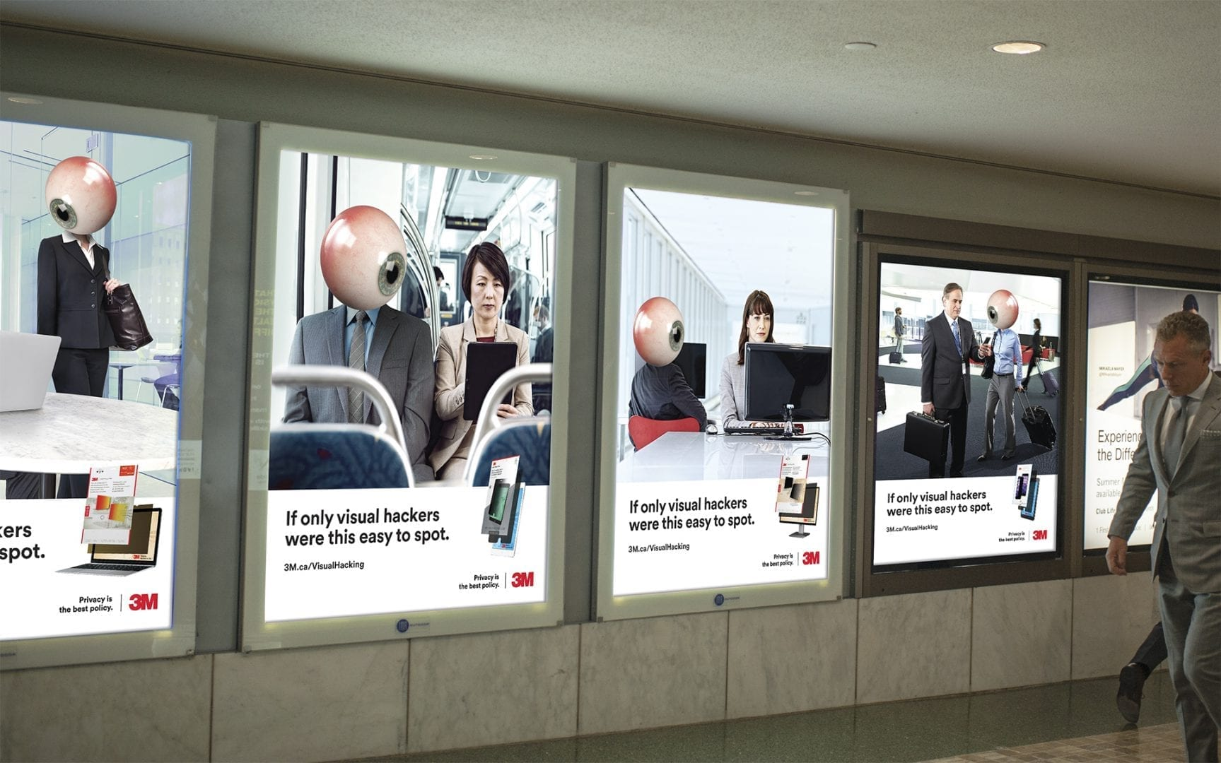 3M Visual Hacking out-of-home advertisements