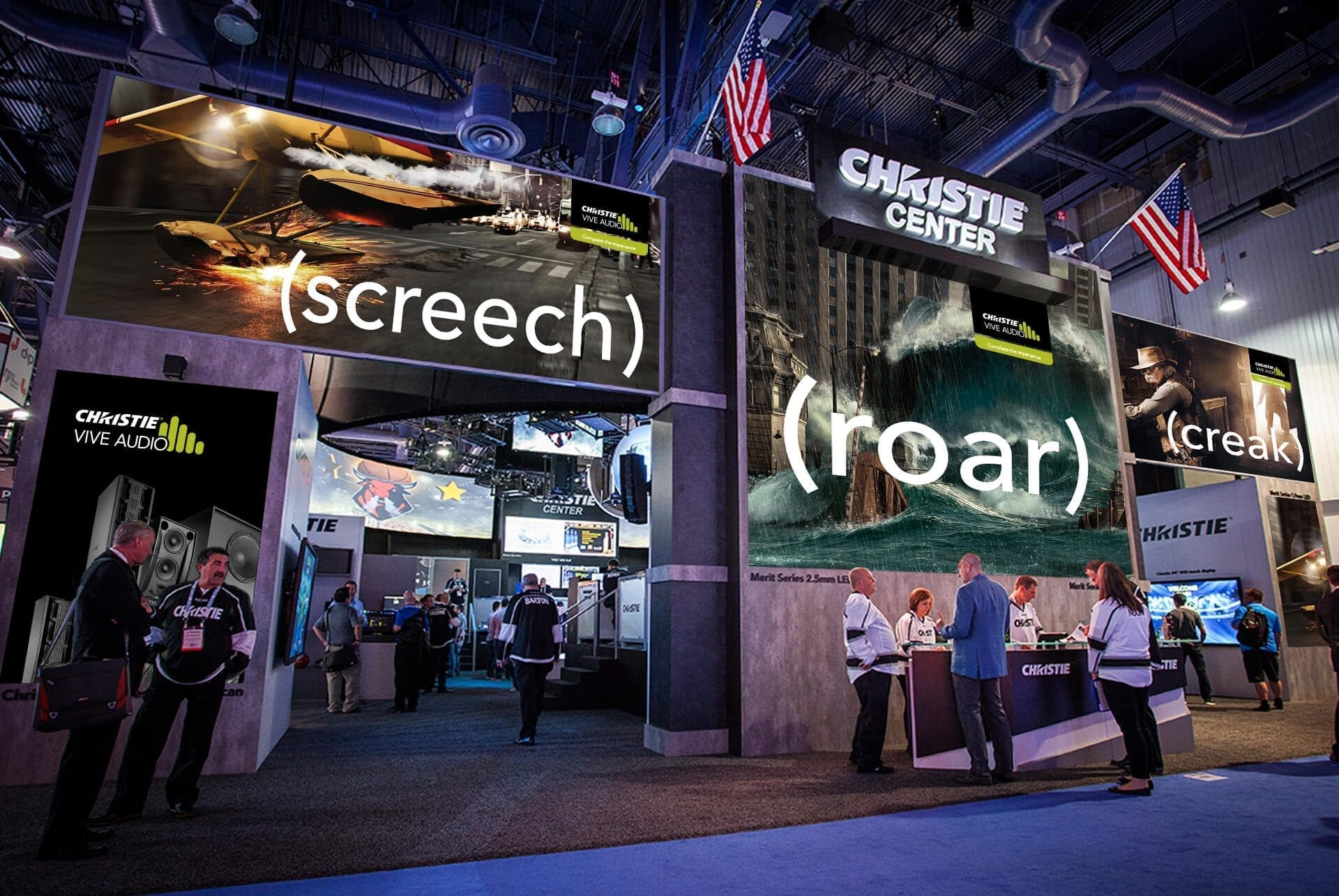 Christie Digital trade show booth design