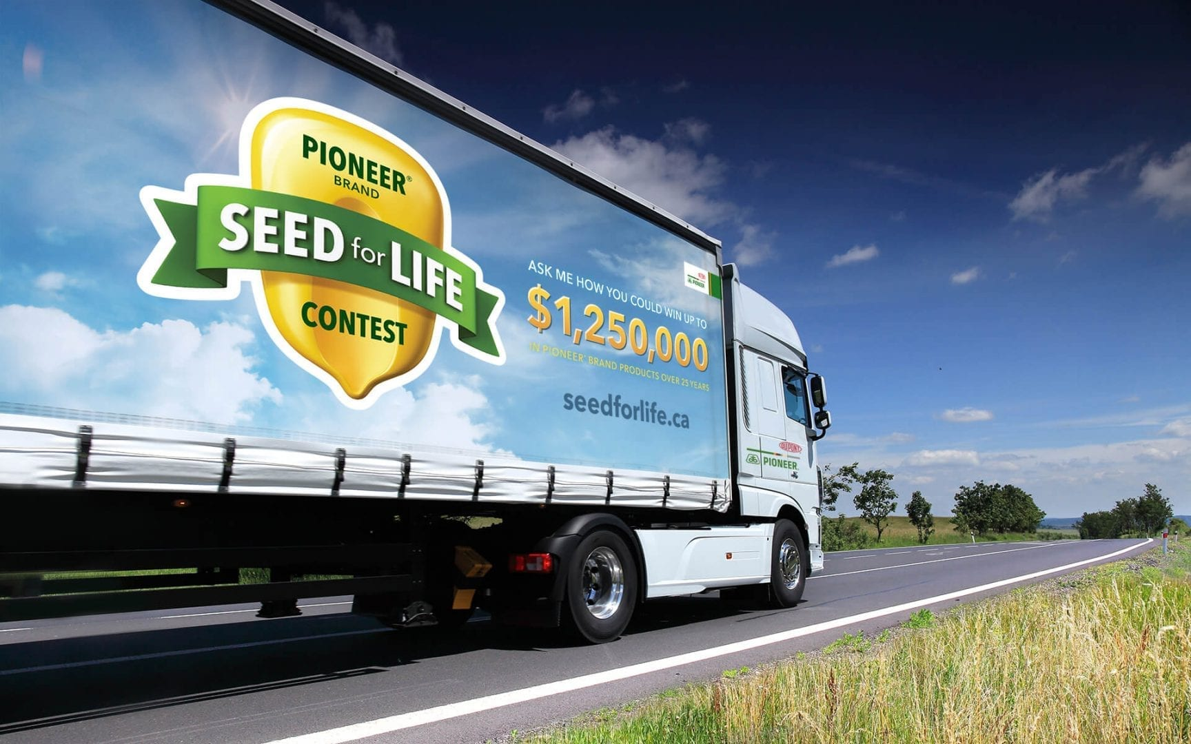 DuPont Pioneer Seed for Life transport truck wrap
