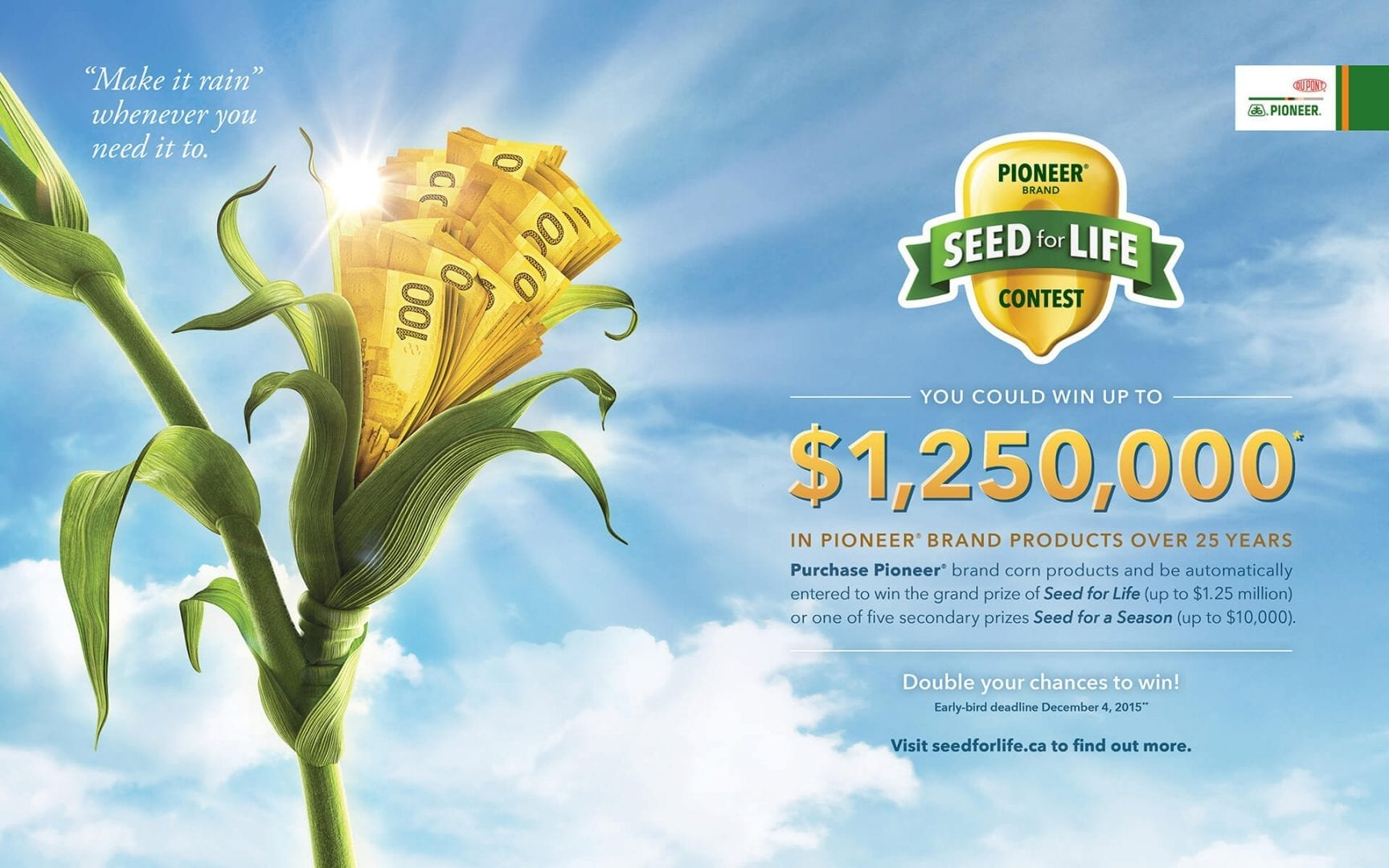 DuPont Pioneer Seed for Life print ad