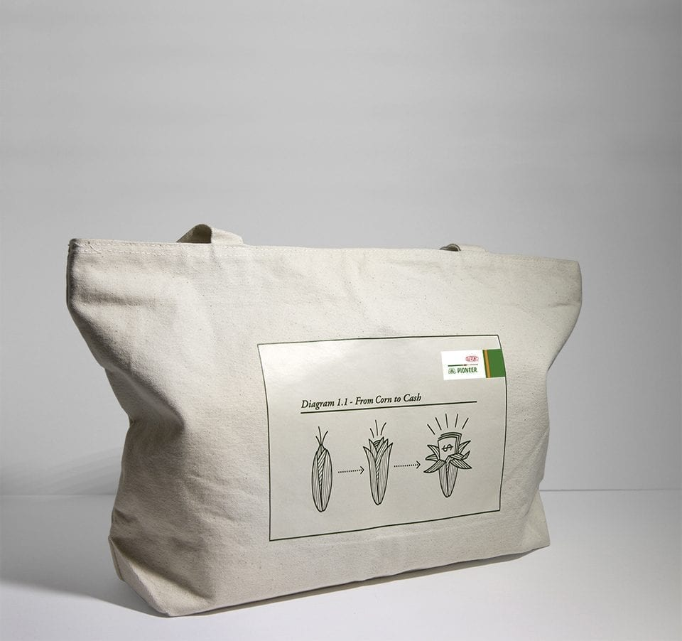 DuPont Pioneer Seed for Life tote bag design