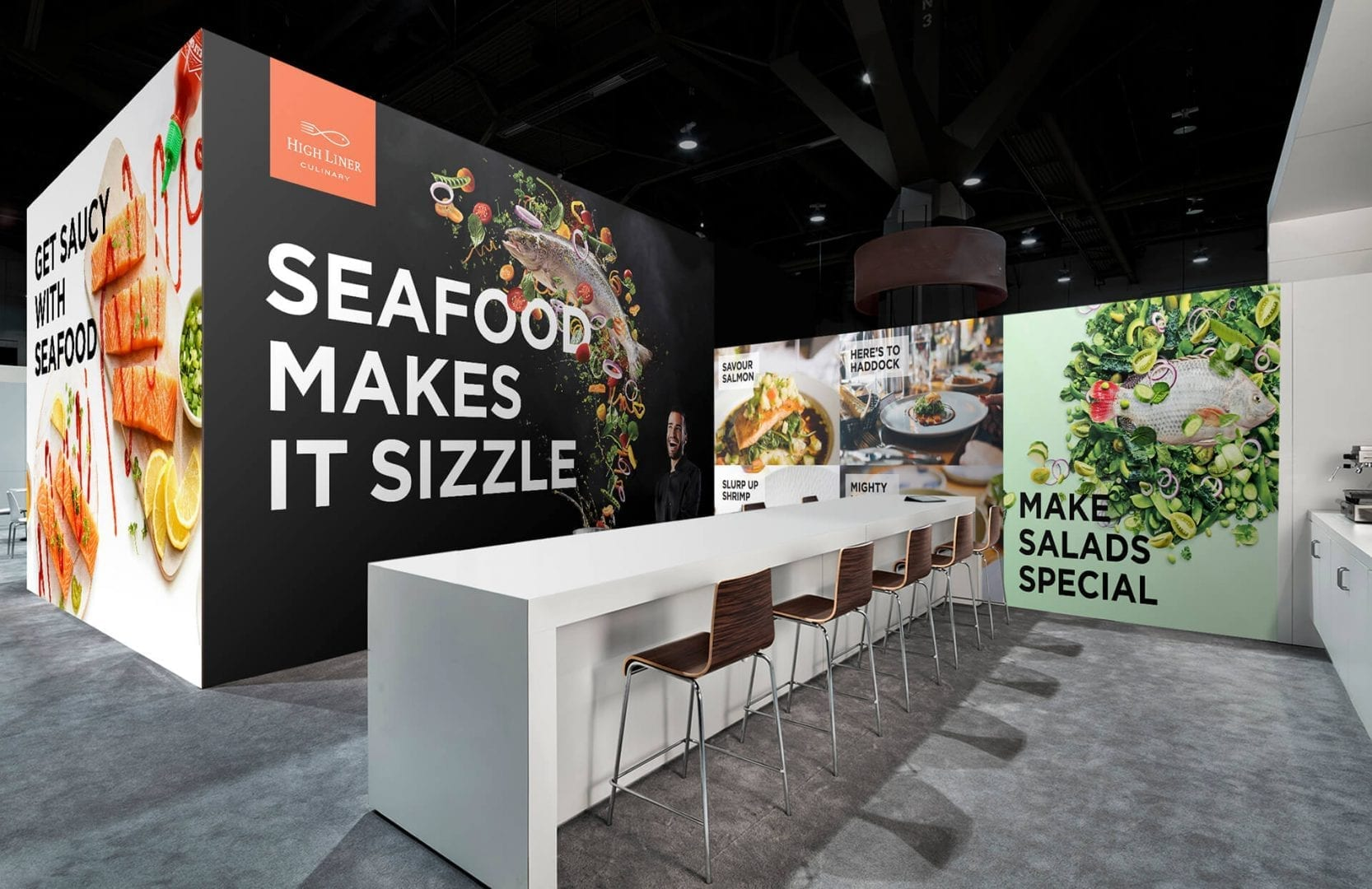 High Liner Culinary trade show booth design concept