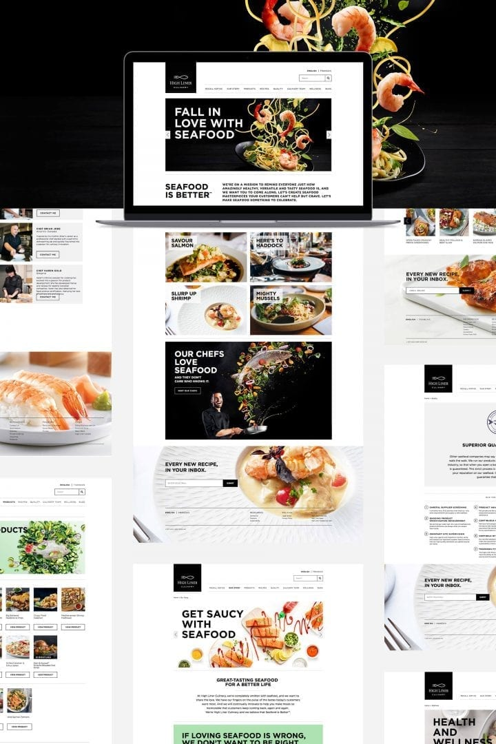 High Liner Culinary web design