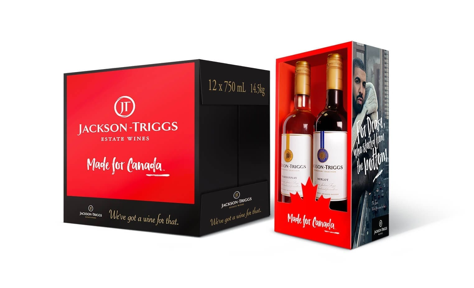 Jackson-Triggs Made For Canada product packaging