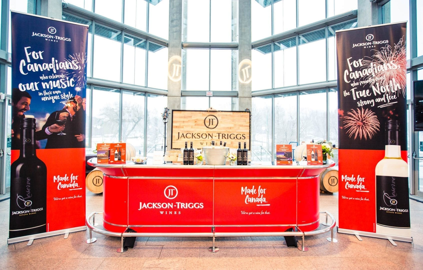 Jackson-Triggs Made For Canada Junos 2017 event bar and banners