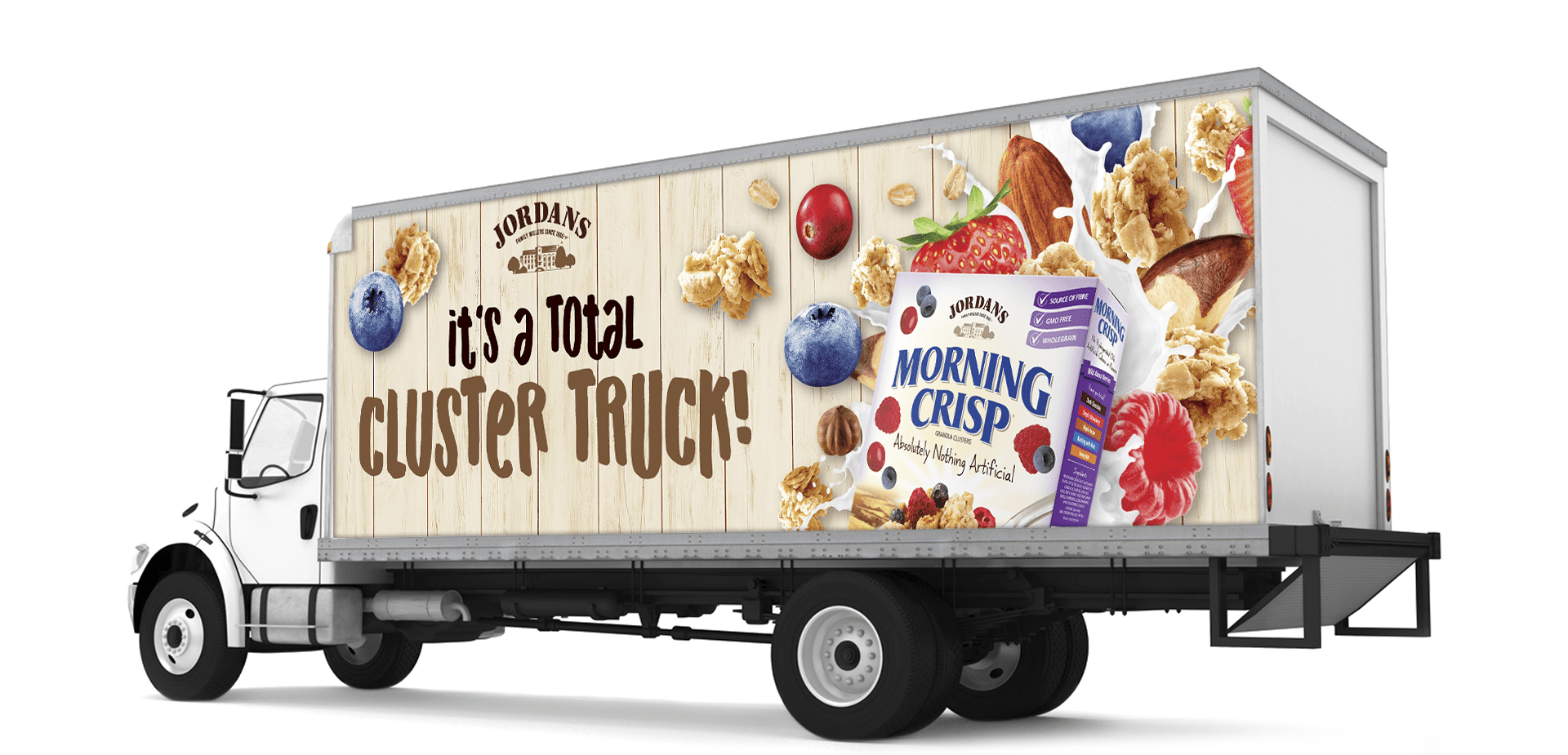Jordans Morning Crisp transport truck decal