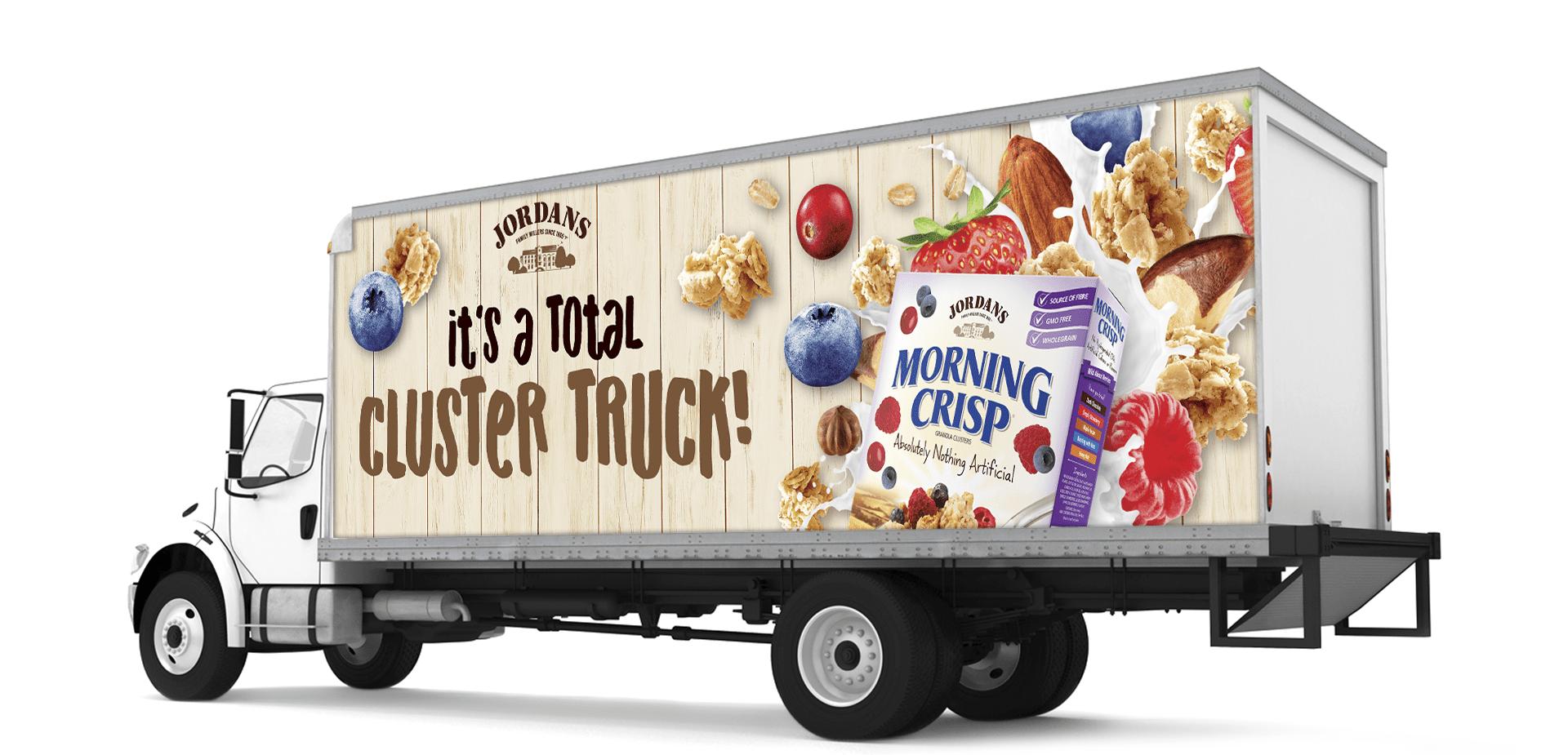 Jordans Morning Crisp transport truck decal