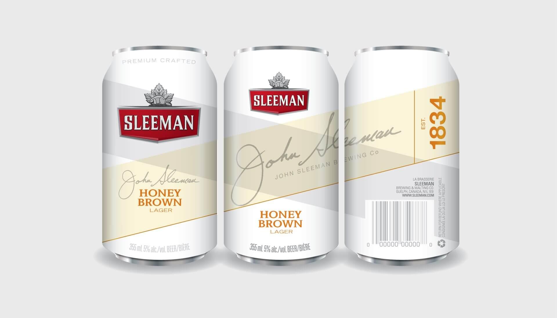 Sleeman beer can design concept