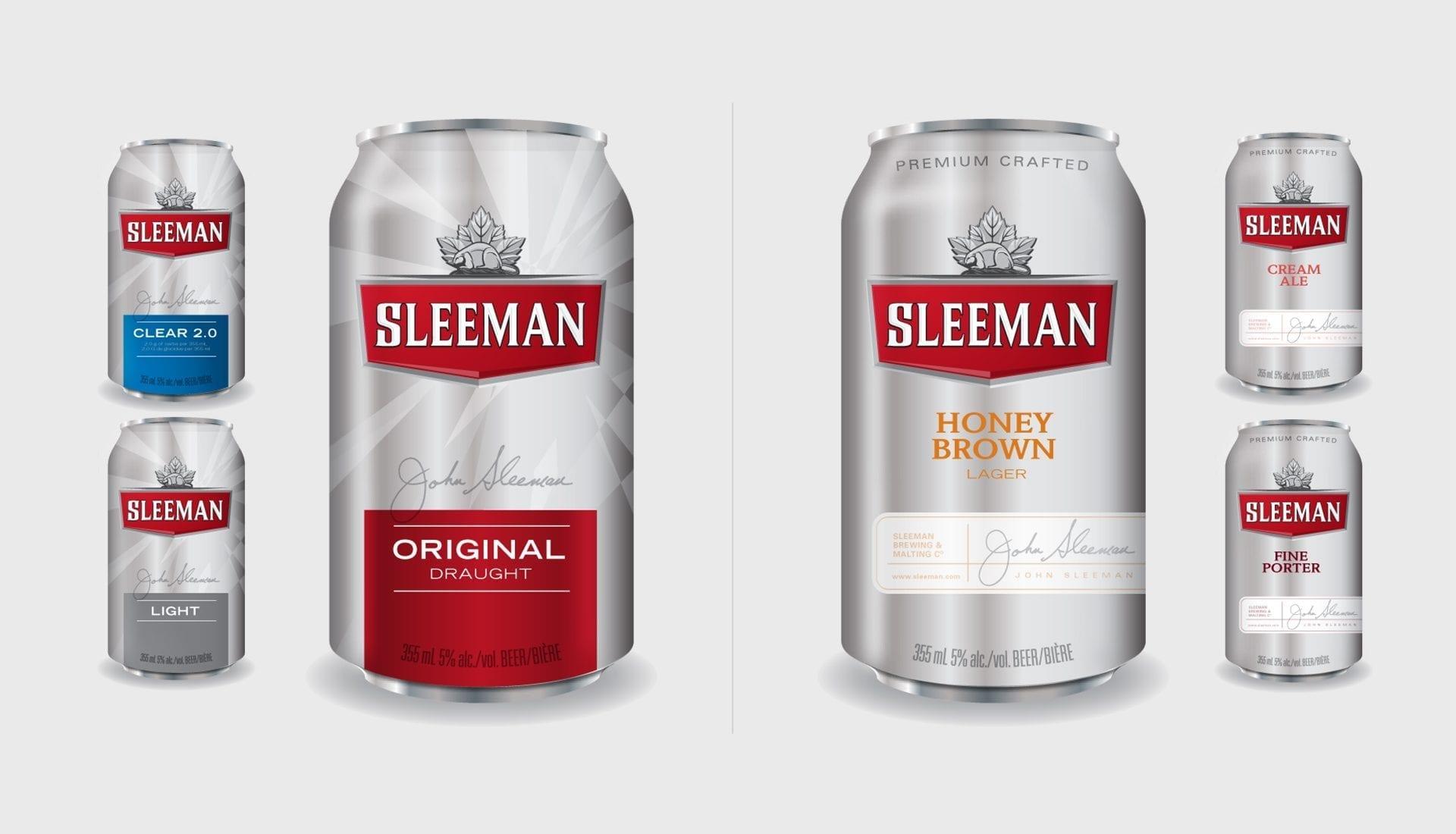 Sleeman beer can design concepts