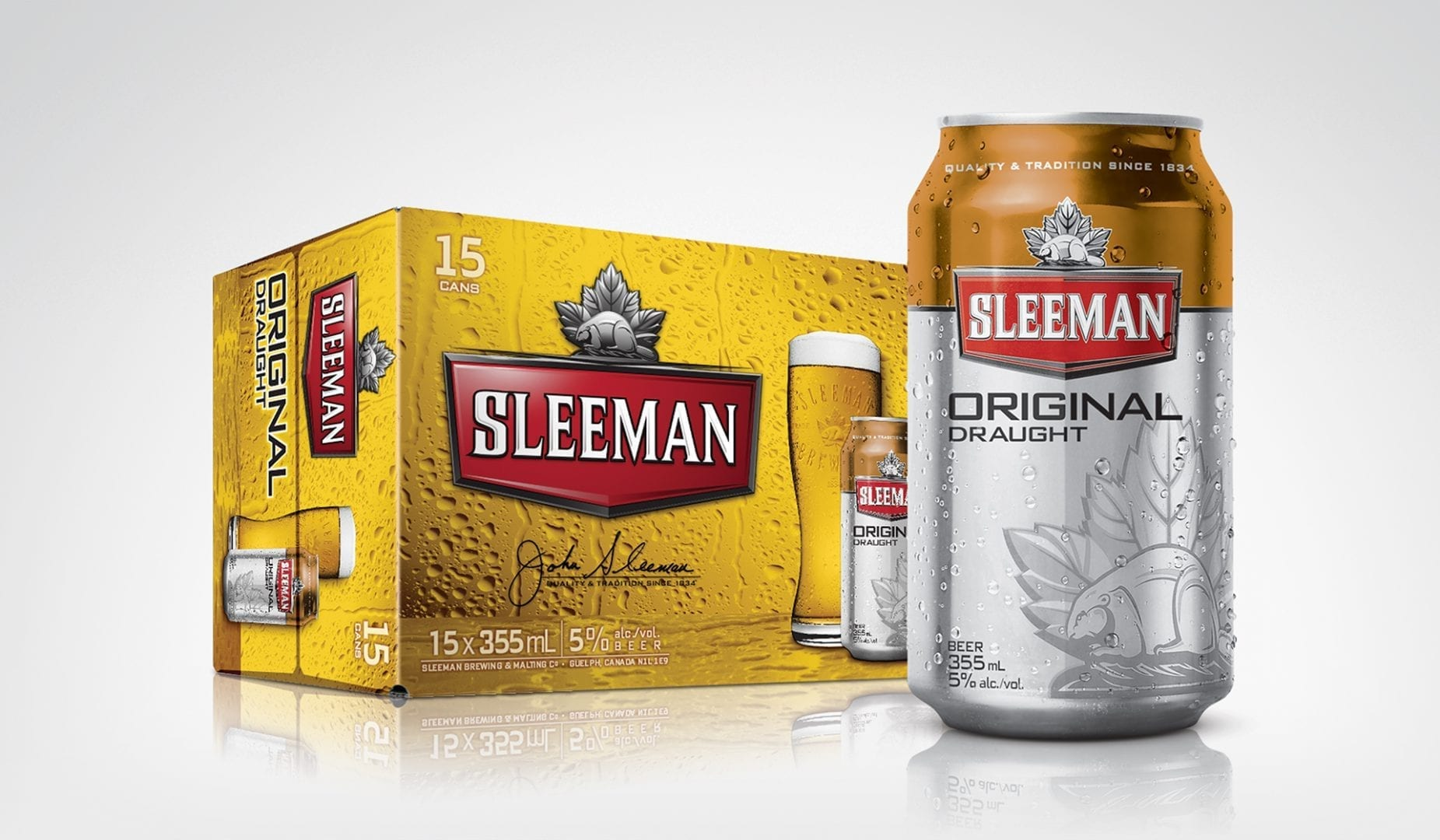Sleeman beer can design concept