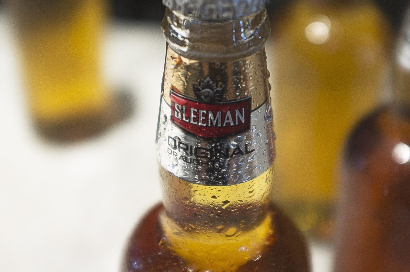 Sleeman beer bottle design concept