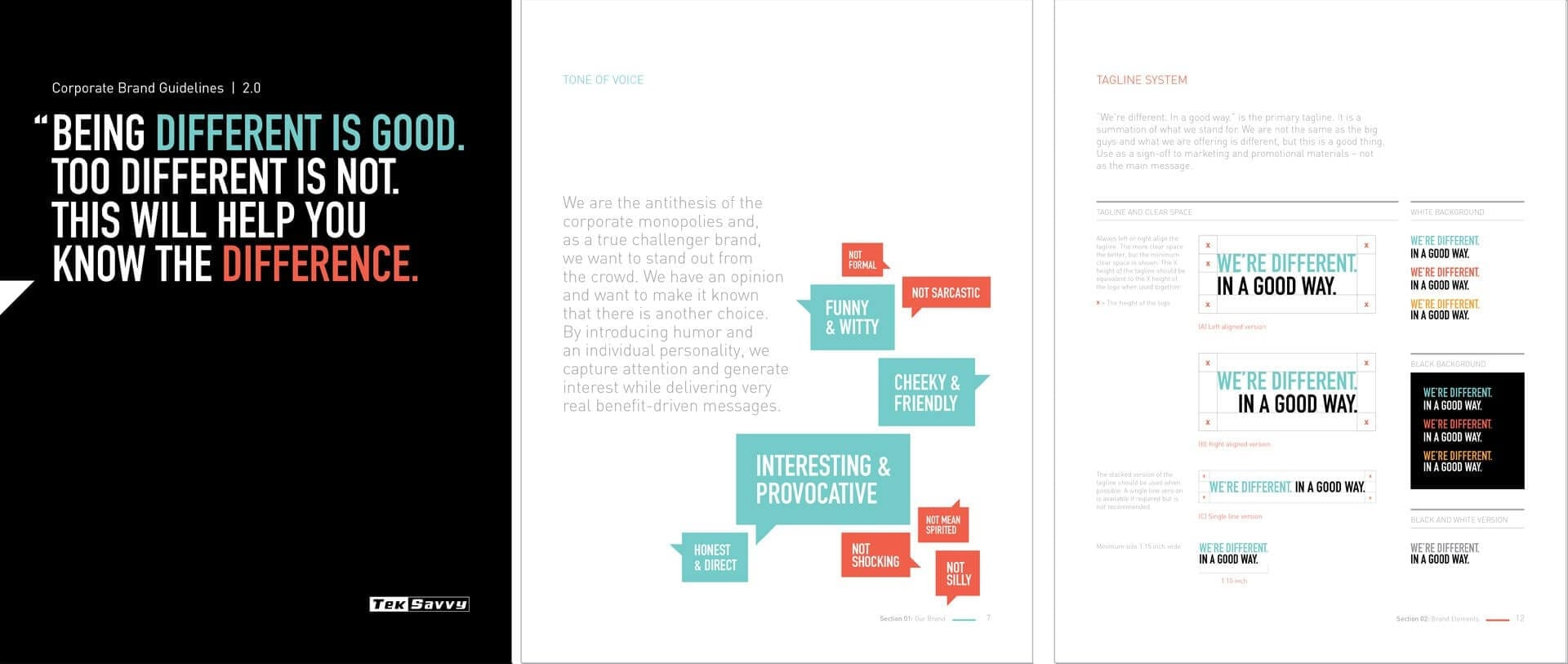 Teksavvy corporate brand guidelines