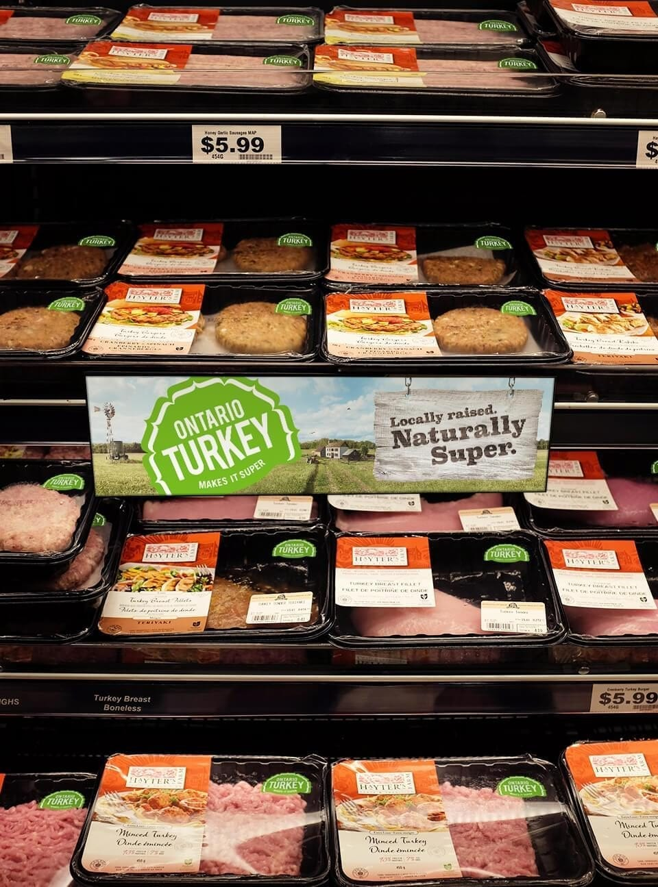 Ontario Turkey in-store shelf signage