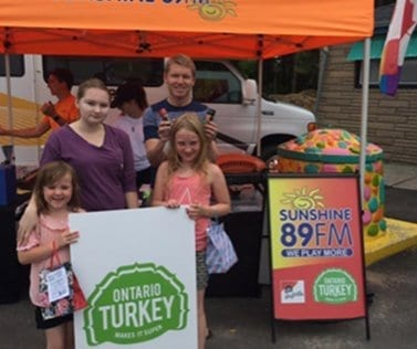 Ontario Turkey summer sampling event