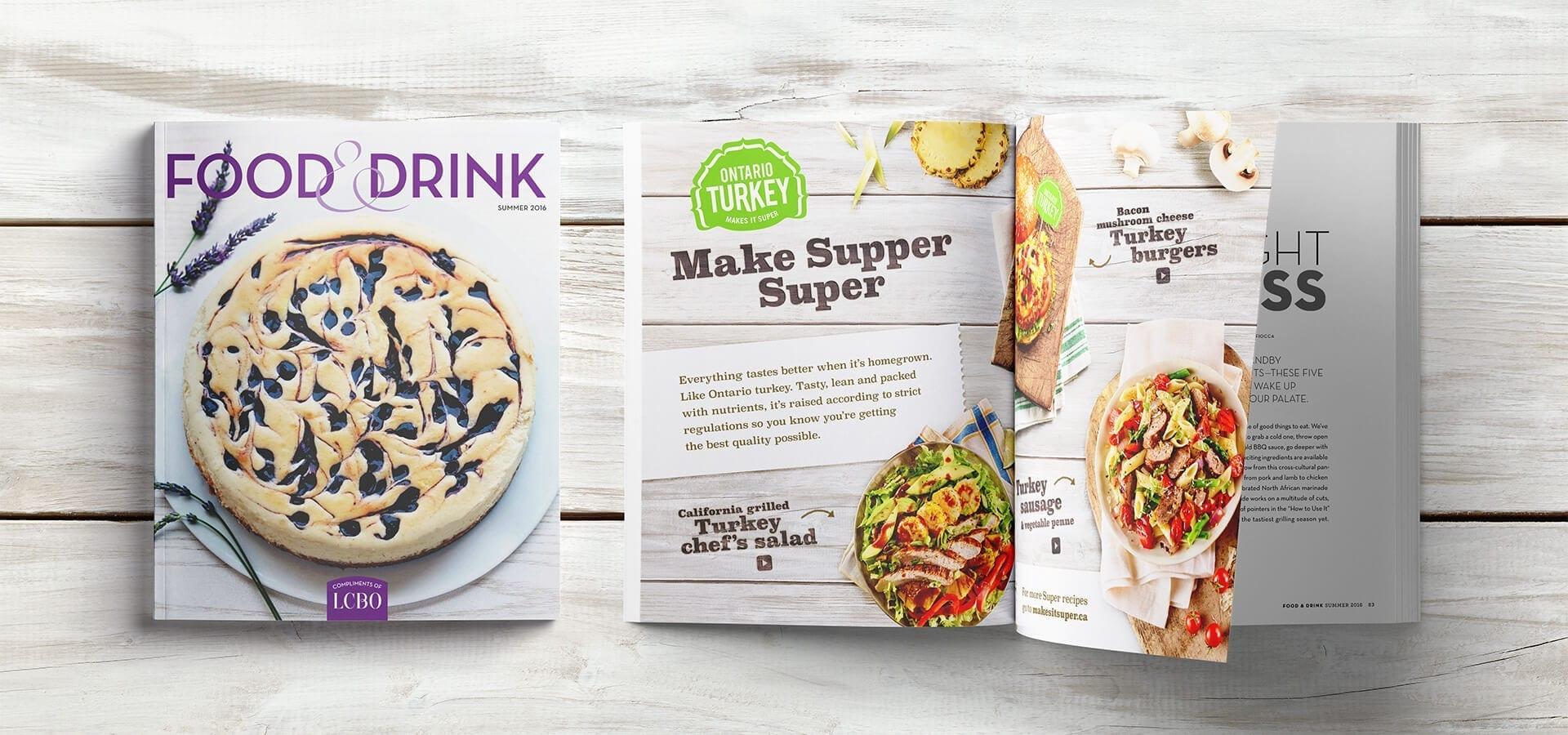 Ontario Turkey Food & Drink double-page spread (DPS)