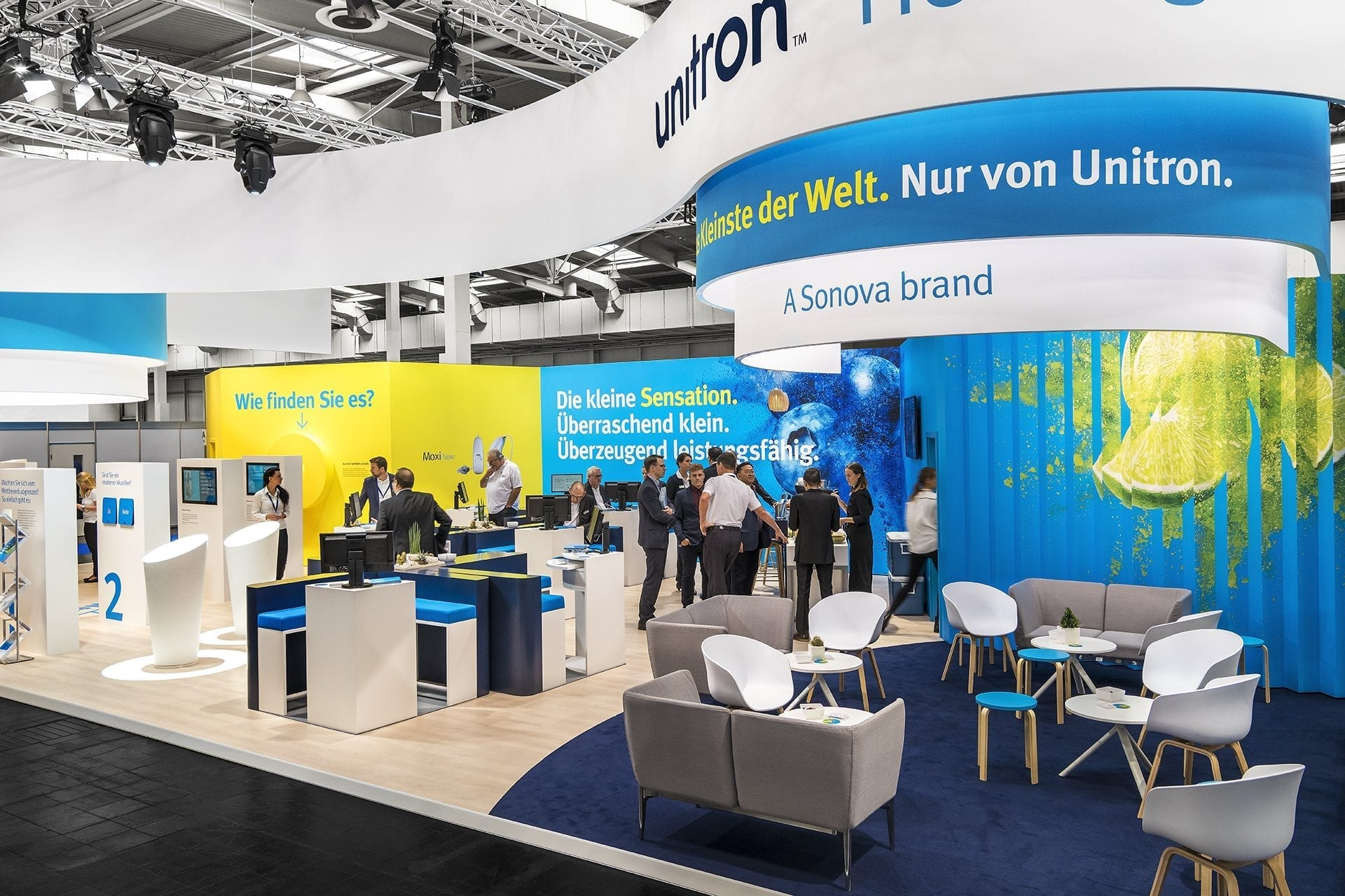 Unitron Moxi Now EUHA trade show booth